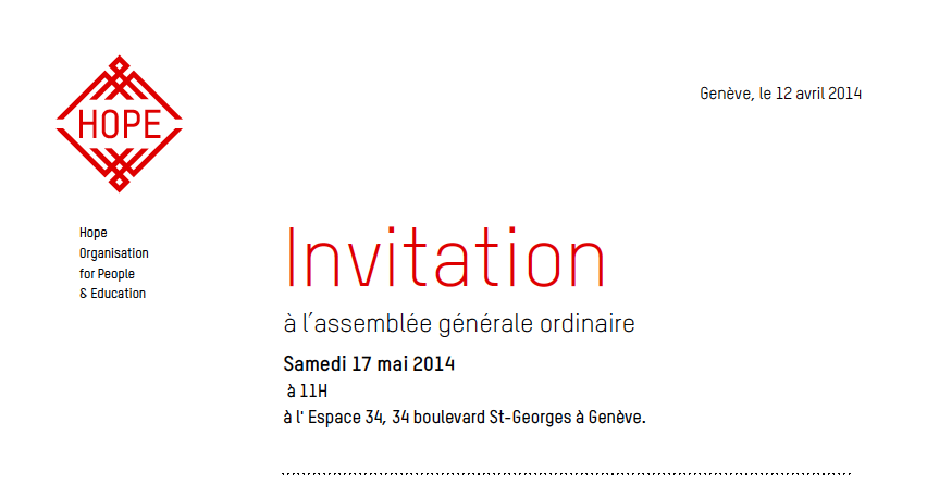 Invitation AG 2014